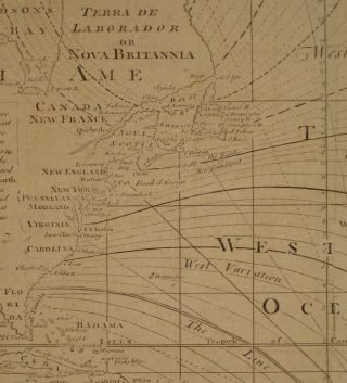 A New and Correct Chart of the Western and Southern Oceans Showing the Variations of the Compass...