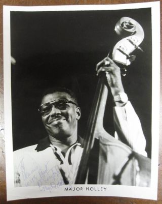 Inscribed Photograph. Major HOLLEY, 1924 - 1990