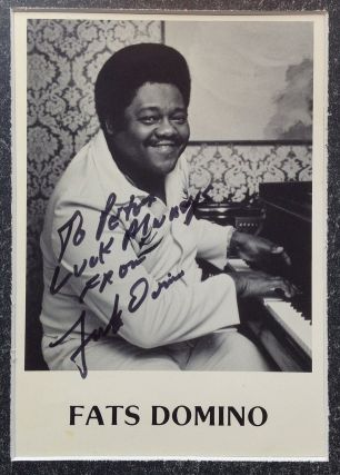Inscribed Photograph. Fats DOMINO, 1928