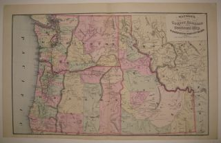 Watson's New County, Railroad and Sectional Map, of Washington, Oregon and Idaho. Gaylord WATSON