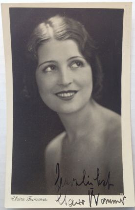 Signed Vintage Postcard Photo. Claire ROMMER, 1904 - 1996