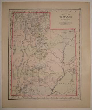 Gray's New Map of Utah. Frank A. GRAY.