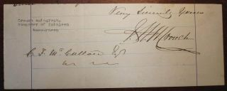 Signature Removed from a Letter. Frederick Nicholls CROUCH.