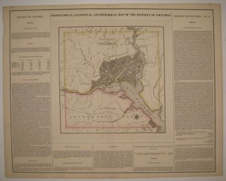 Geographical, Statistical, and Historical Map of the District of Columbia. CAREY, LEA