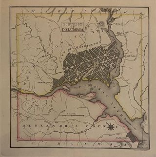 Geographical, Statistical, and Historical Map of the District of Columbia.
