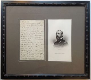 Historically Important Framed Autographed Letter Signed to General Grant. George Gordon MEADE,...