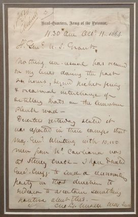 Historically Important Framed Autographed Letter Signed to General Grant