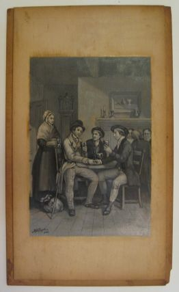 [Untitled Painting: Men at table]. Birdsall Douglass PAINE.