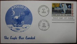 Eighteen First Day Covers. APOLLO SPACE PROGRAM