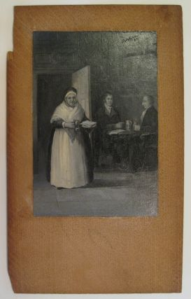 [Untitled Painting: Interior of a tavern]. Birdsall Douglass PAINE.