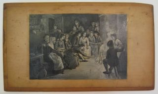 [Untitled Painting: Gathered around the Fire]. Birdsall Douglass PAINE.