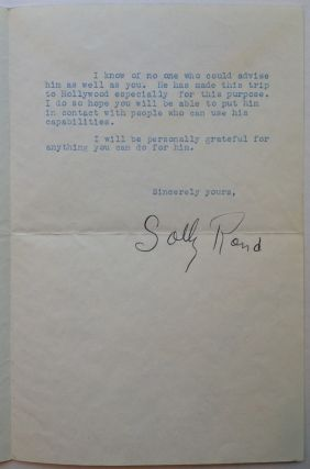 Typed Letter Signed to film pioneer William Pine