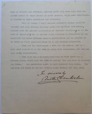 Powerful and Historically Important Typed Letter Signed