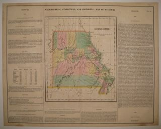Geographical, Statistical, and Historical Map of Missouri. CAREY, LEA