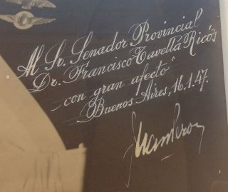 Framed Photograph Inscribed to an Argentinean senator
