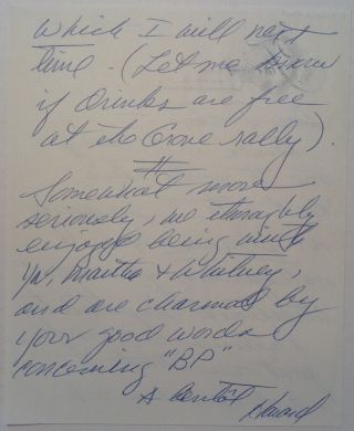 Cryptic Autographed Letter Signed