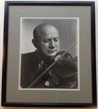 Framed Signed Photograph. Mischa ELMAN, 1891 - 1967
