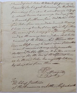 Two Autographed Documents Signed from the Continental Army