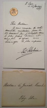 Rare Autographed Letter Signed in French. Said HALIM, Pasha, 1865 - 1921