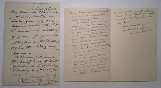 Two Autographed Letters Signed by the Co-Founders of Bellevue Medical College. BELLEVUE HOSPITAL
