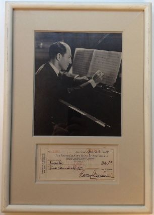 Signed Check Framed with Photo