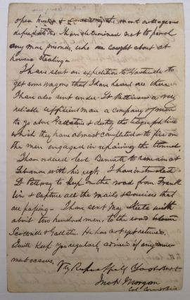 War-Date Autographed Letter Signed as Colonel to General Braxton Bragg