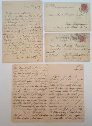Four Autographed Notes and Letters. Theodor LESCHETIZKY, 1830 - 1915
