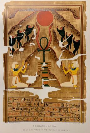 Adoration of Ra. (From a Papyrus in the Museum of Leiden.)