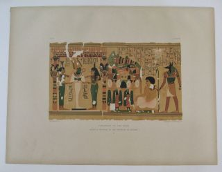 Judgment of the Dead. (From a Papyrus in the Museum of Leiden.) b. Samuel Augustus BINION