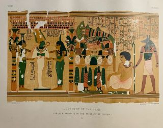 Judgment of the Dead. (From a Papyrus in the Museum of Leiden.) b.