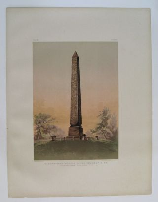 Cleopatra's Needle in its Present Site. (Central Park, New York City.). Samuel Augustus BINION.