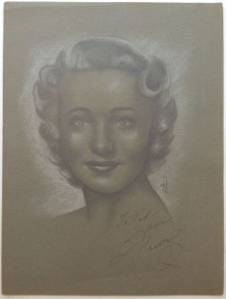 Signed Original Drawing. Jane POWELL, 1929