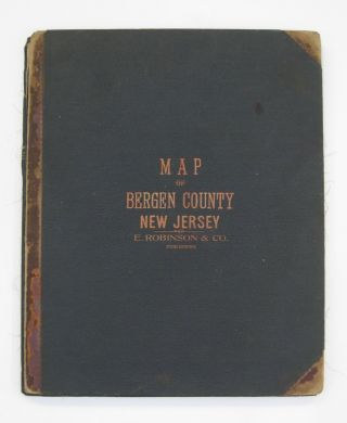 Map of Bergen County with a Portion of Passaic Co.; Compiled from the Geological Survey of New...