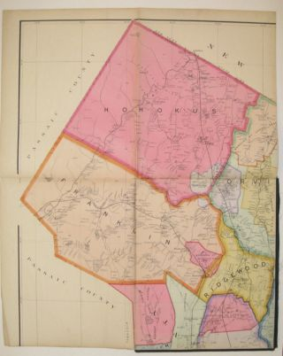 Map of Bergen County with a Portion of Passaic Co.; Compiled from the Geological Survey of New Jersey, Official Maps Private Plans and Actual Surveys by and under the direction of E. Robinson