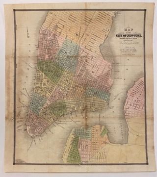 "Map of the City of New York Drawn by D.H. Burr, expressly for ""New York as it is in 1833."" David H. BURR."