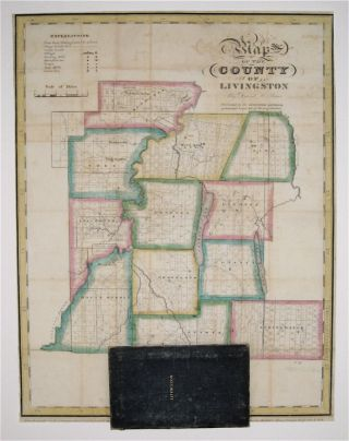 Map of the County of Livingston. David H. BURR
