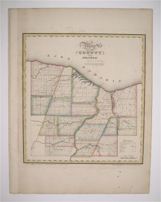 Map of the County of Monroe. David H. BURR