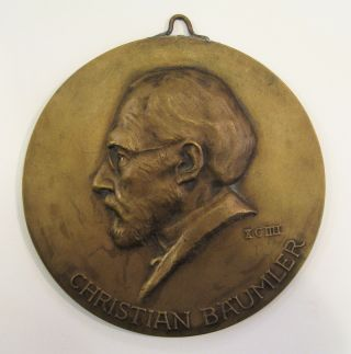 Medallion of Christian Bäumler. Karl DAUTERT.