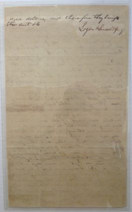 34-Line Document Written Entirely in Lincoln's Hand