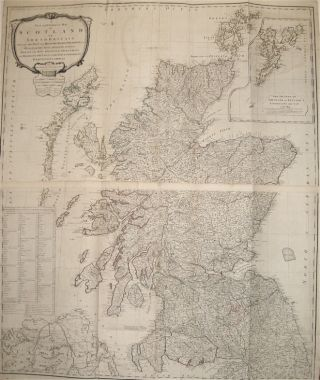 A New and Correct Map of Scotland or North Britain with all the Post and Military Roads,...