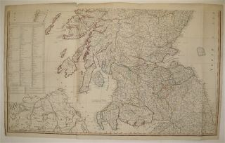 A New and Correct Map of Scotland or North Britain with all the Post and Military Roads, Divisions, &c