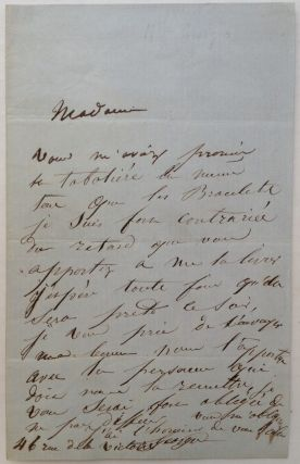 Autographed Letter Signed in French. Mademoiselle GEORGES, 1787 - 1867