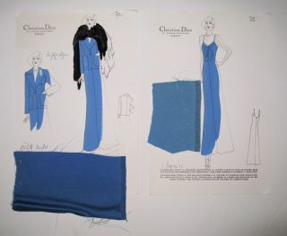 Autumn/Winter 1974-75 Croquis, Plate 72. Christian DIOR.