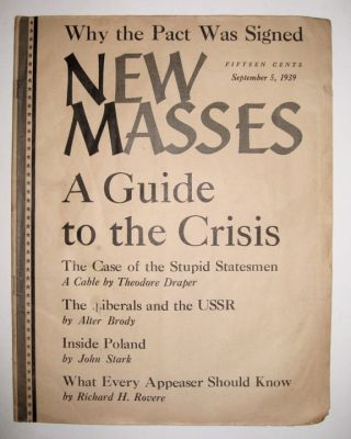 New Masses [September 5, 1939