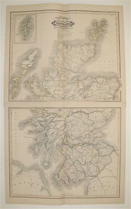 New Road Map of Scotland With All The Lines of Railway, Canals &c &c. William LIZARS
