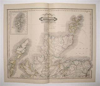 New Road Map of Scotland With All The Lines of Railway, Canals &c &c