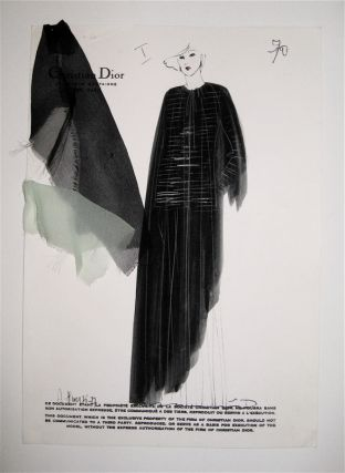 Autumn/Winter 1976-77 Croquis, Plate 70. Christian DIOR.