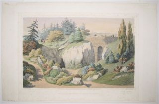 View of the entrance of the cave and stonebridge. George FASEL, Edward VALOIS.