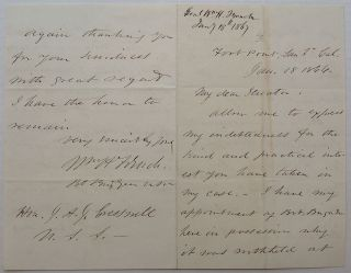Autographed Letter signed. Gen. William H. FRENCH
