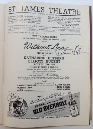 """Signed Playbill -- """"Without Love"""""""